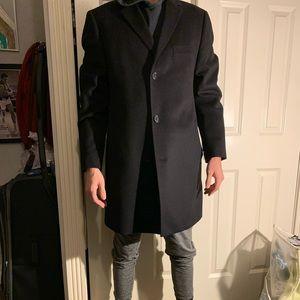 Men's Black Saks Fifth Avenue Pea coat  - large